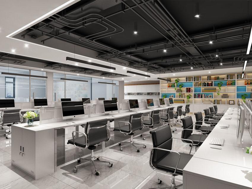 北京安必奇生物科技办公室设计效果图