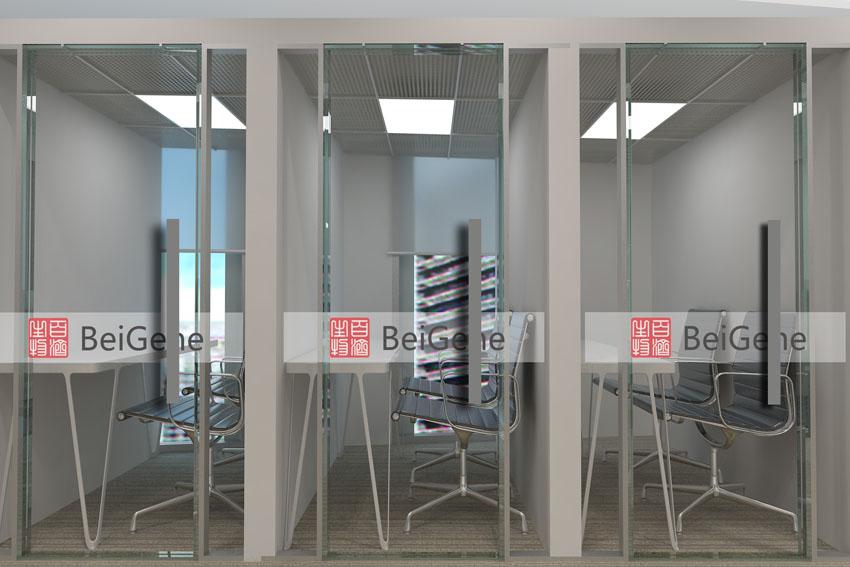 百济神州办公室设计效果图
